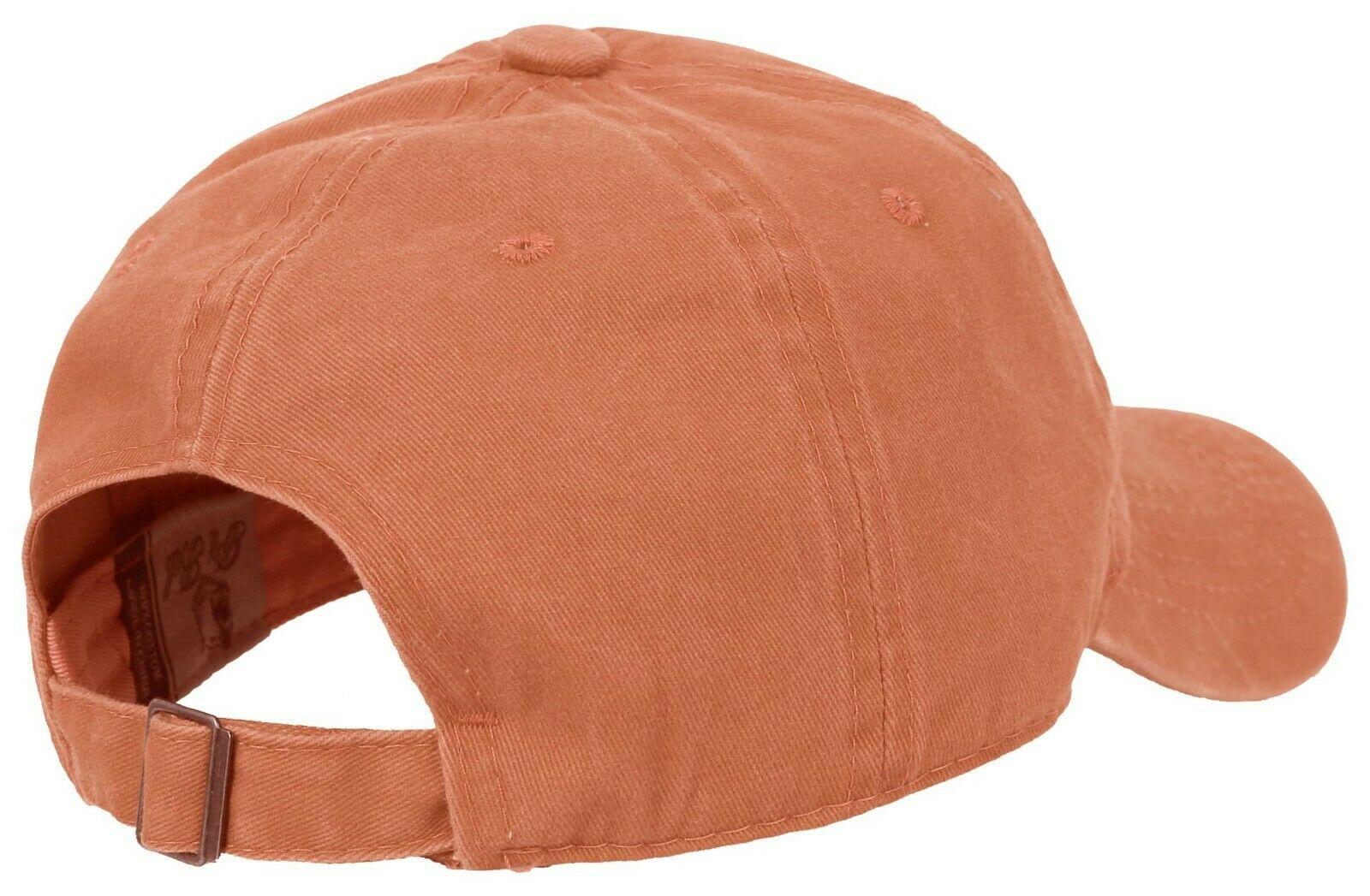 BASEBALL-CAP-Plain-Dad-Hat-Low-Profile-Vintage-Washed-Pigment-Adjustable thumbnail 13