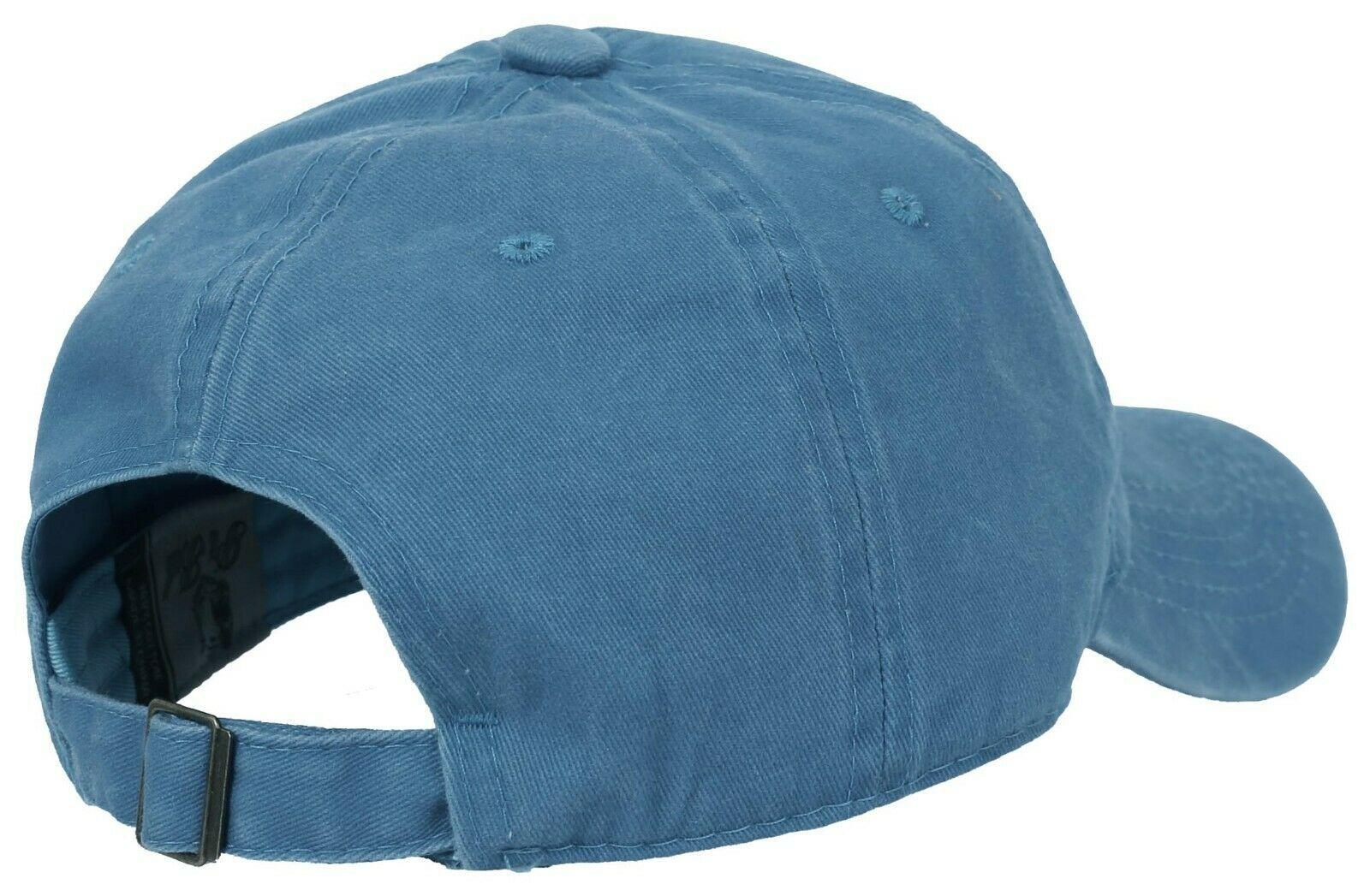 BASEBALL-CAP-Plain-Dad-Hat-Low-Profile-Vintage-Washed-Pigment-Adjustable thumbnail 21