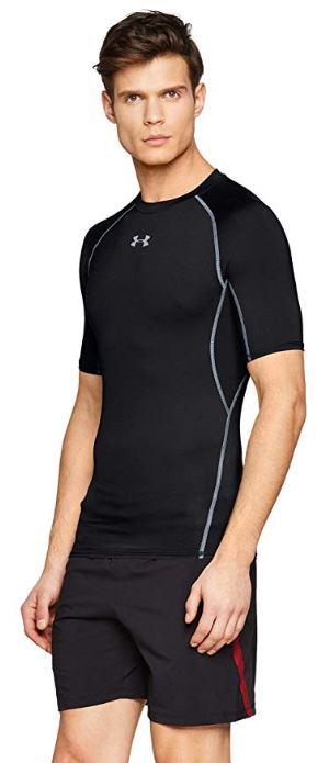 Under-Armour-HeatGear-manches-courtes-Compression-Shirt miniature 3