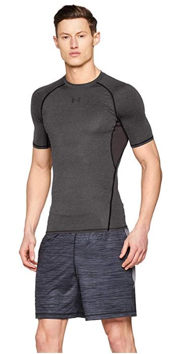 Under-Armour-HeatGear-manches-courtes-Compression-Shirt miniature 5