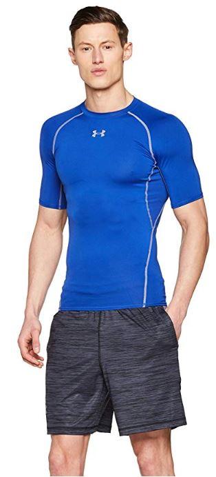 Under-Armour-HeatGear-manches-courtes-Compression-Shirt miniature 8