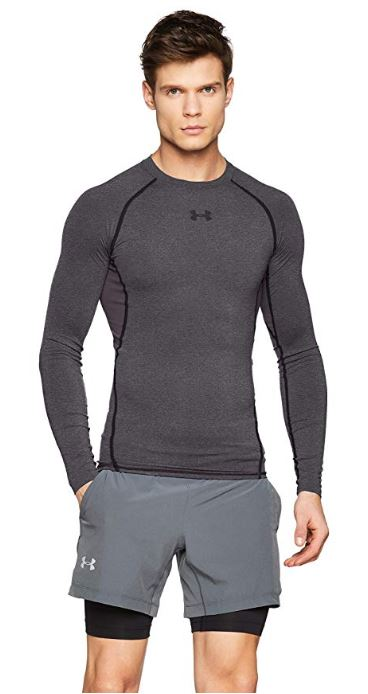 Under-Armour-Men-039-s-HeatGear-Armour-Long-Sleeve-Compression-Shirt thumbnail 5