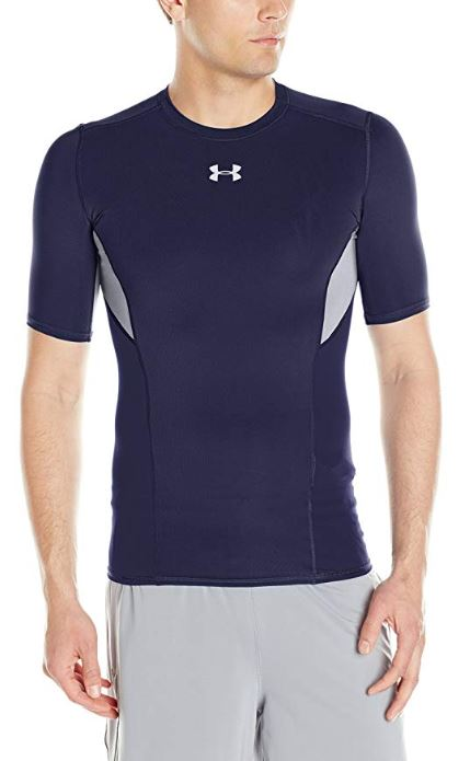 Under-Armour-Men-039-s-coolswitch-a-Manches-Courtes-Compression-Shirt miniature 12