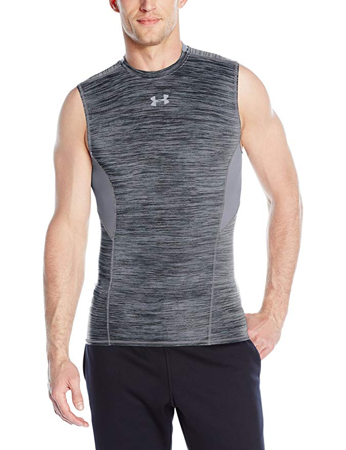 Under-Armour-Men-039-s-UA-CoolSwitch-Sleeveless-Compression-Shirt thumbnail 3