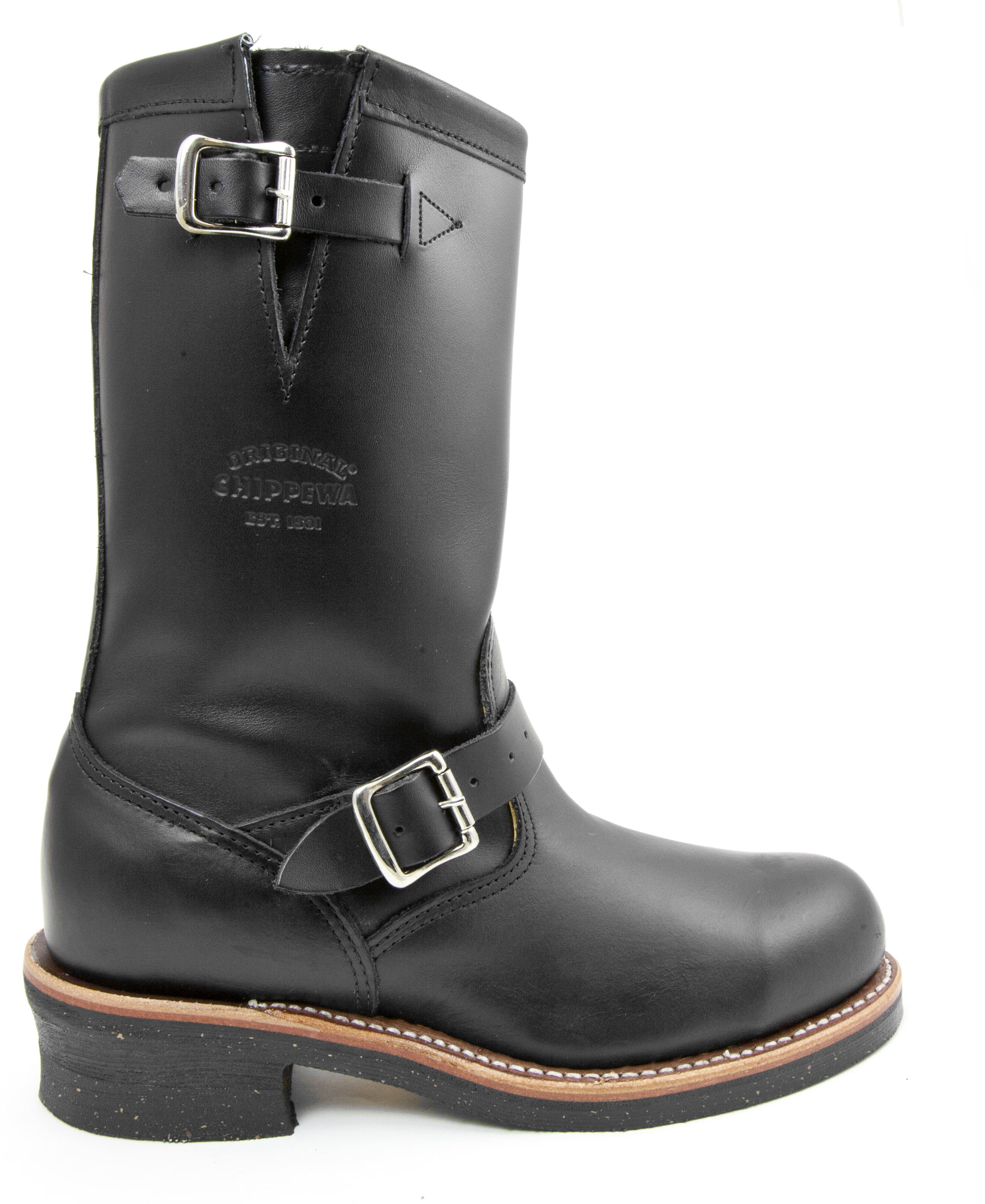 2789c23fce3 Details about Chippewa 1901M03 Black Leather Engineer Motorcycle Steel Toe  Boot Made in USA