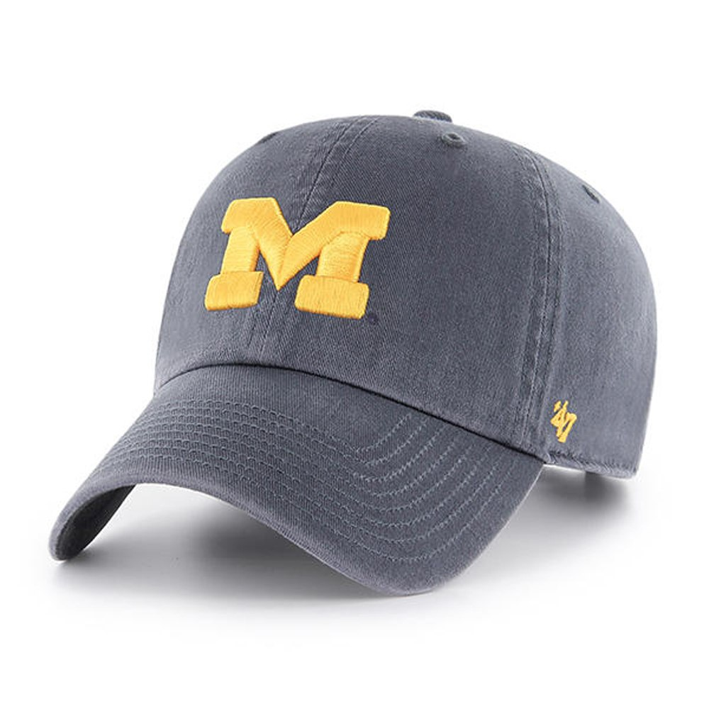 15bb8567d30ad4 Michigan Wolverines Clean Up Cap - Navy 889313606778 | eBay