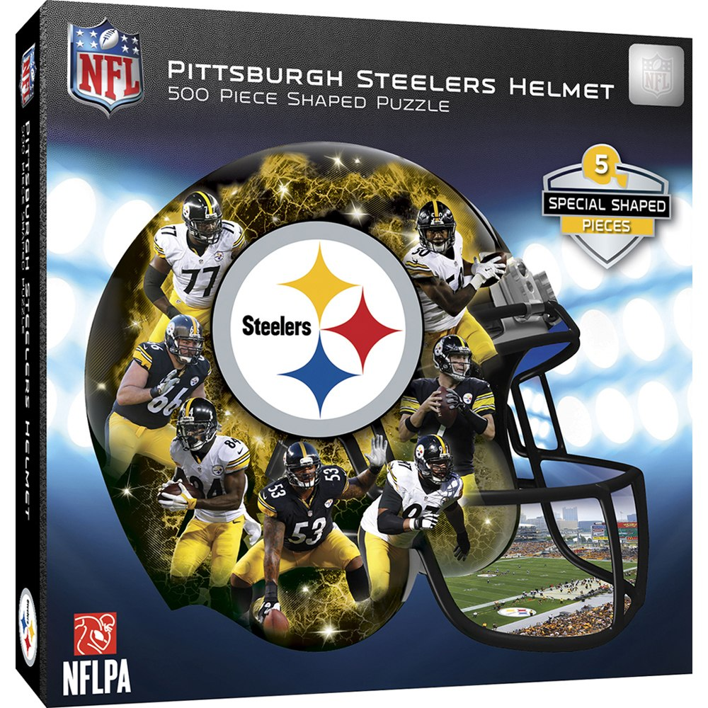 2909668363e Description. This 500pc Shaped Puzzle of the Pittsburgh Steelers ...