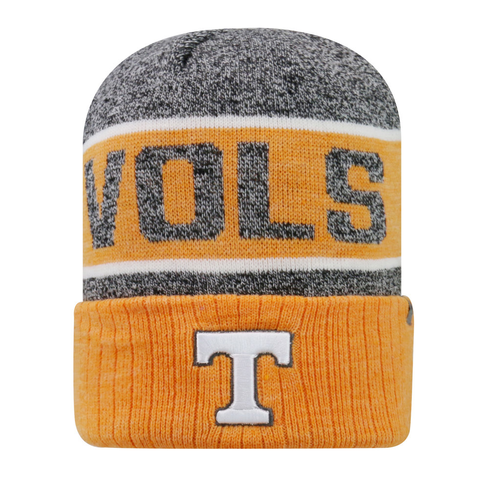 sports shoes b8281 7bd21 ... italy this tennessee volunteers below zero knit hat from top of the world  features woven wrap
