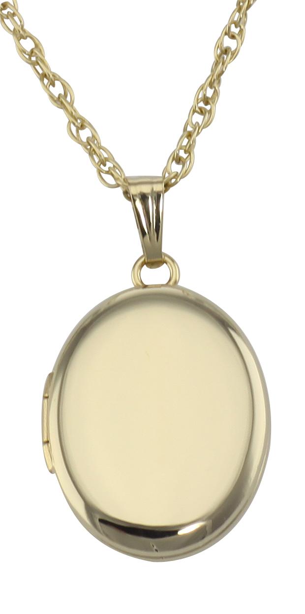 Oval Locket /& GF Chain