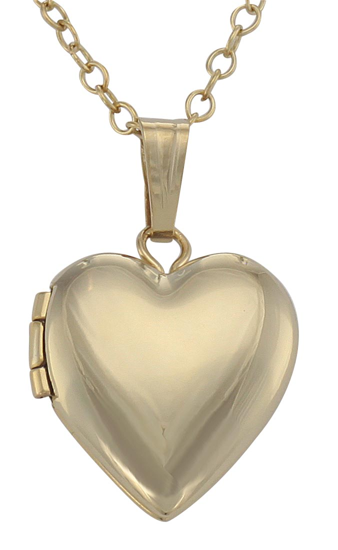 Best Quality Free Gift Box 14k Gold Filled 2-frame Heart Locket