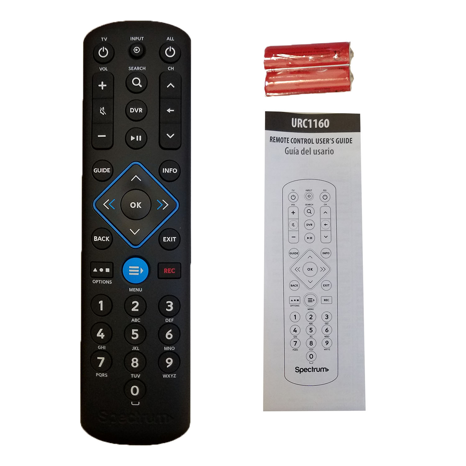 Details about Spectrum Cable Box Remote Control URC1160 New Instructions  included Fast ship