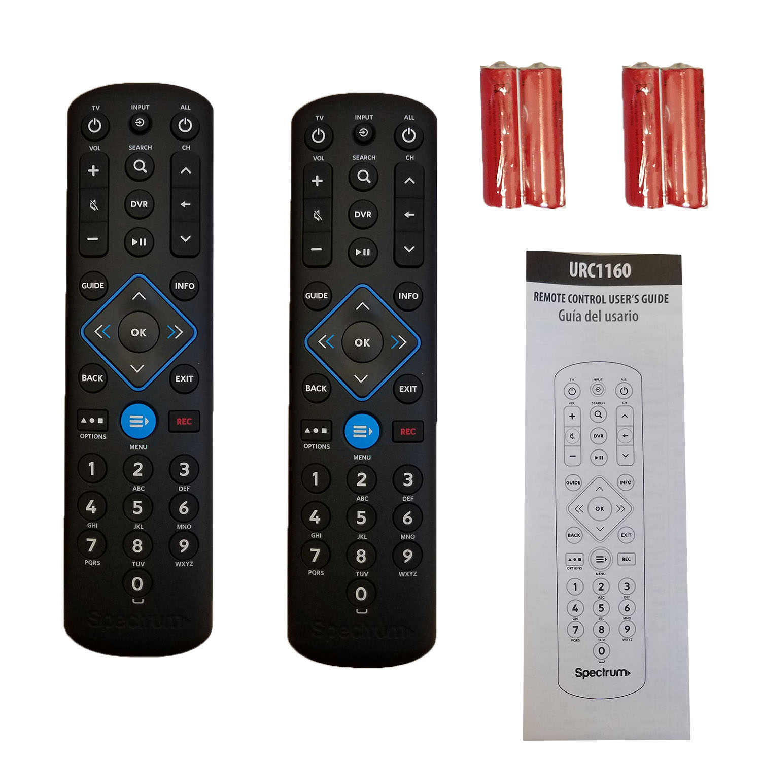 Details about 2 Spectrum Cable Box Remote Controls URC1160 New Instructions  included Fast ship