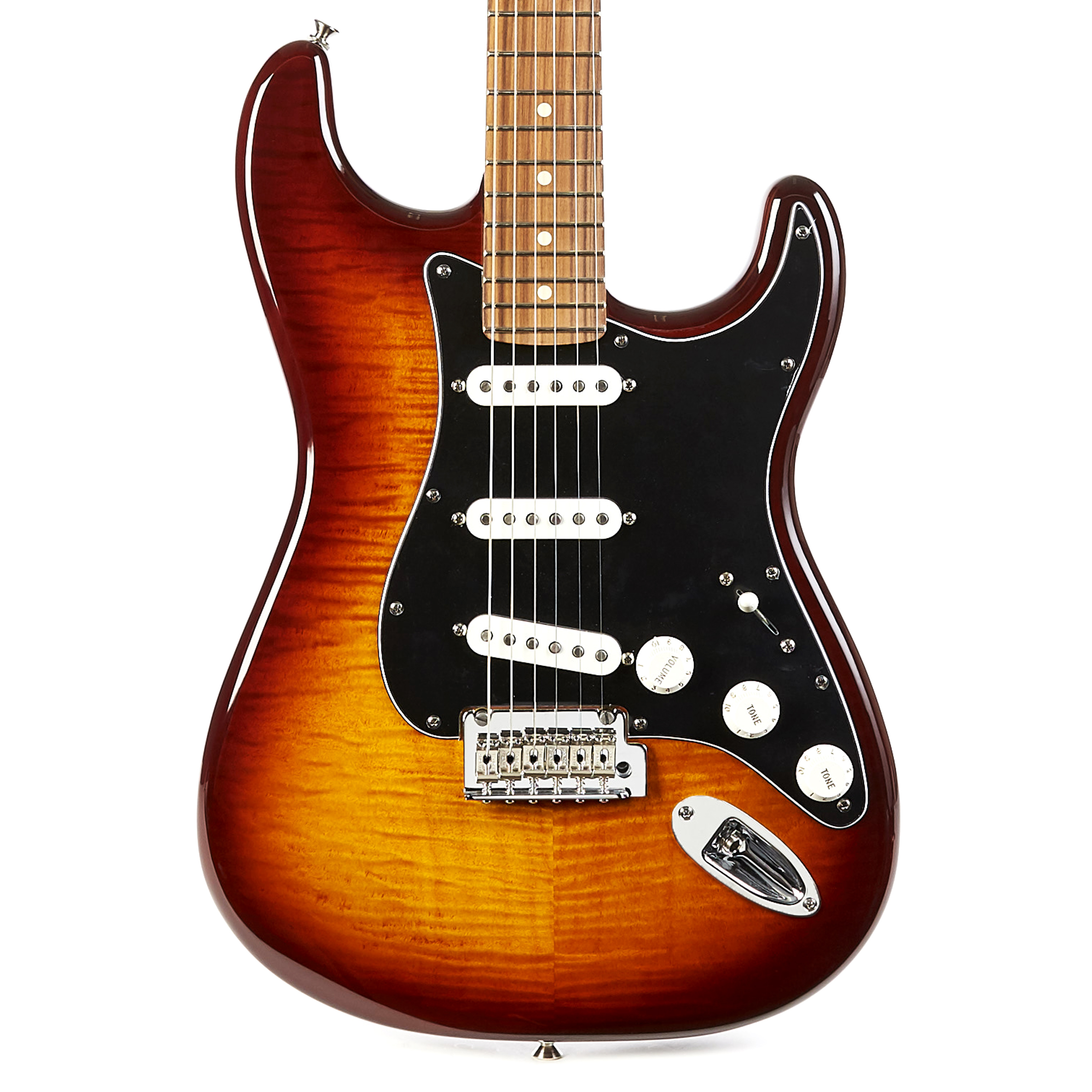 Details about Fender Player Series Stratocaster Plus Top Pau Ferro -  Tobacco Burst Demo