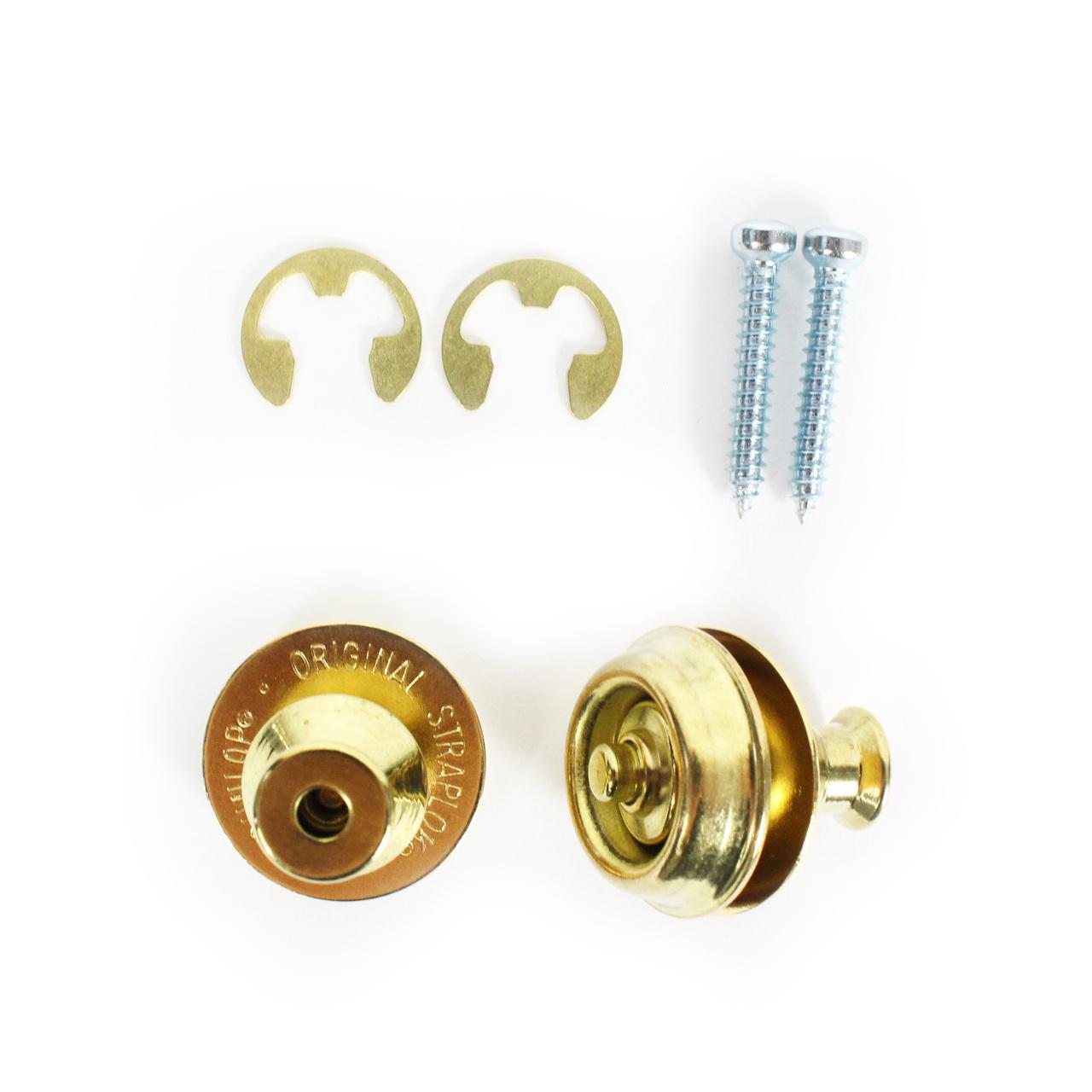 Dunlop Dual Design Straplok Strap Lock System BRASS NEW SLS1032BR