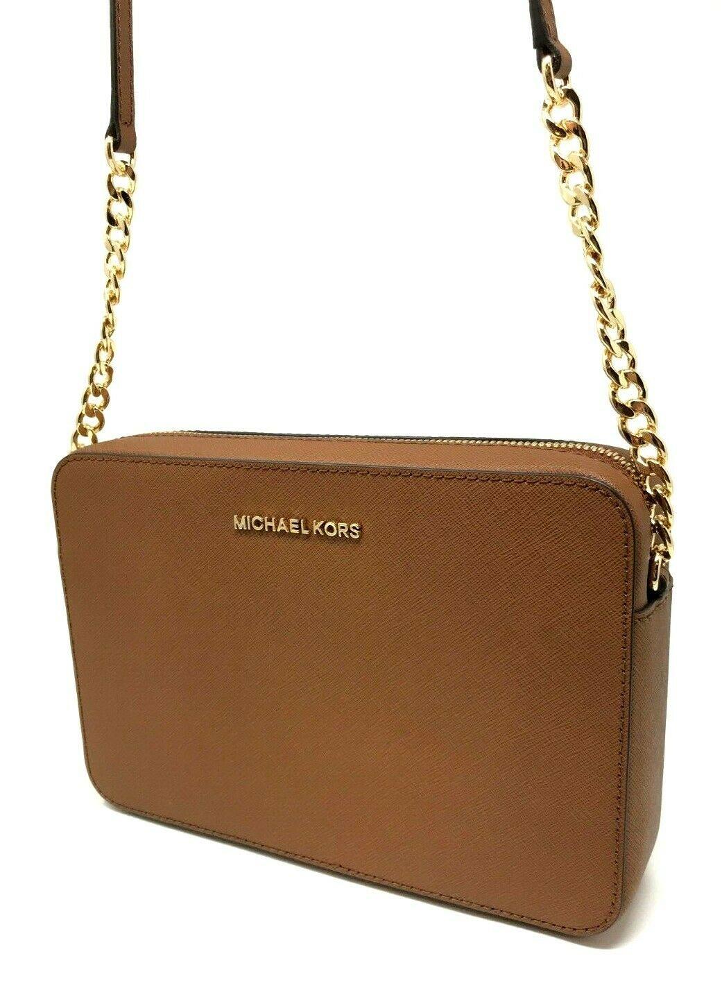 thumbnail 9 - Michael Kors Jet Set Item Large East West Crossbody Chain Handbag Clutch $298