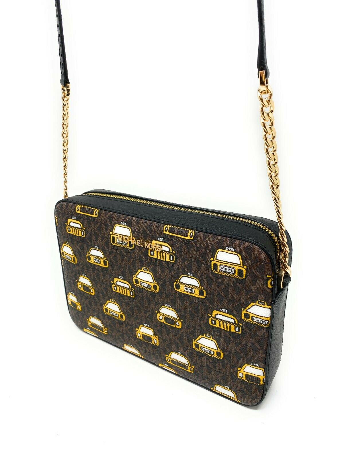 thumbnail 39 - Michael Kors Jet Set Item Large East West Crossbody Chain Handbag Clutch $298