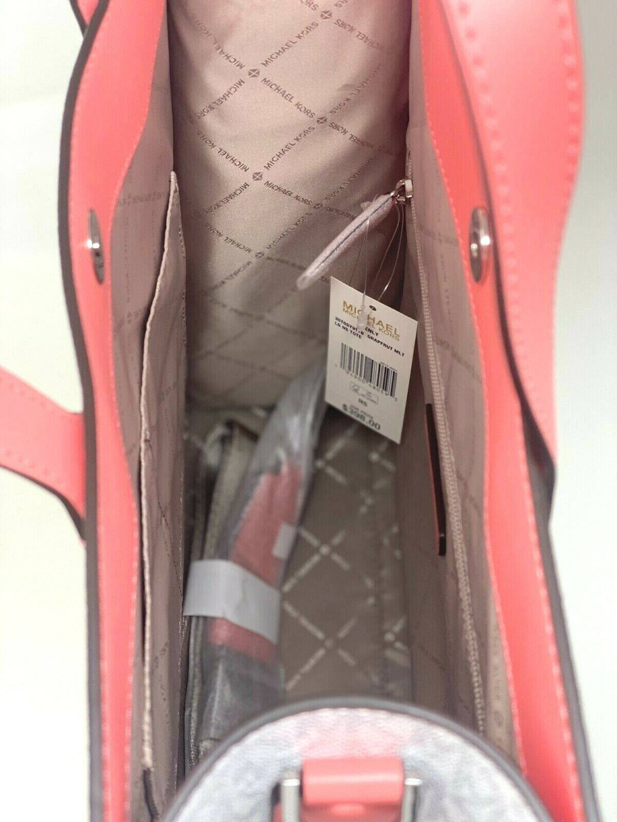 thumbnail 37 - Michael Kors Kenly Large North South Tote PVC Leather Crossbody MK Signature