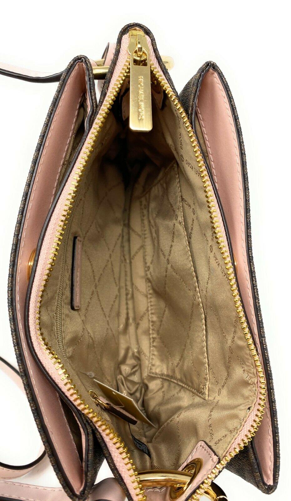 thumbnail 13 - Michael Kors Nicole Large Triple Compartment Crossbody Bag MK Purse