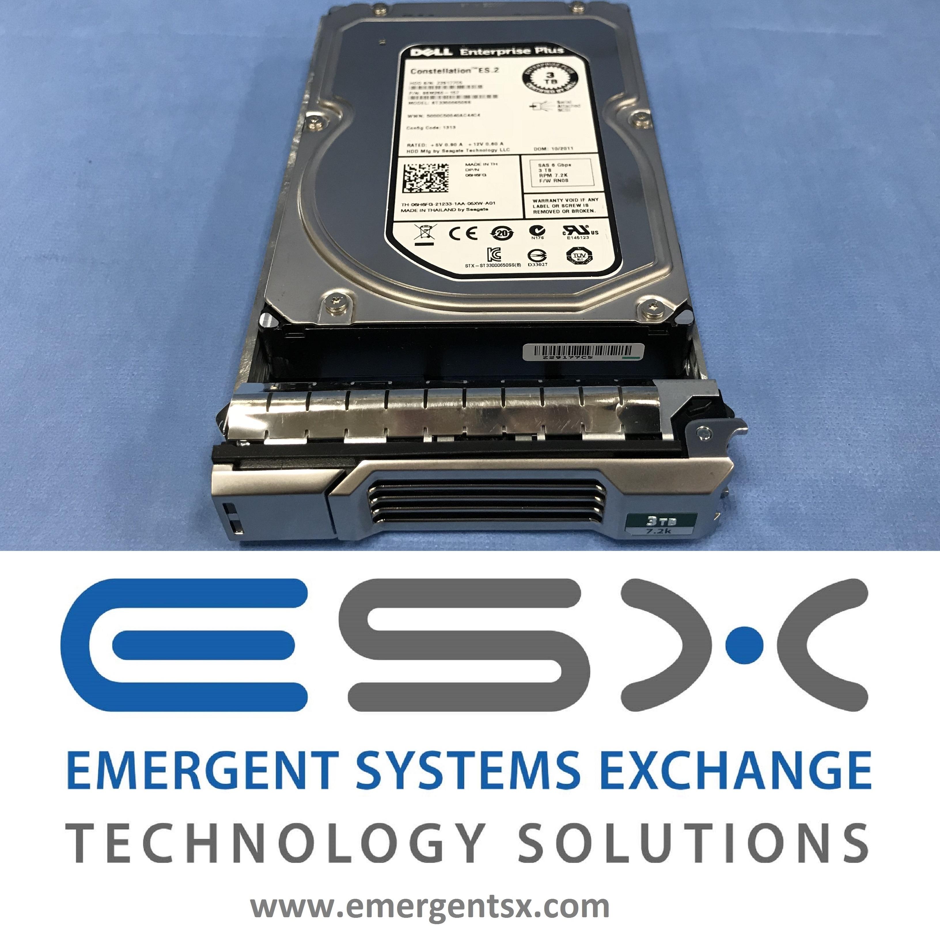 Dell EqualLogic 3TB 7.2K SAS Hard Drive 6H6FG PS4100 PS4110 PS6100 PS6110 PS6210