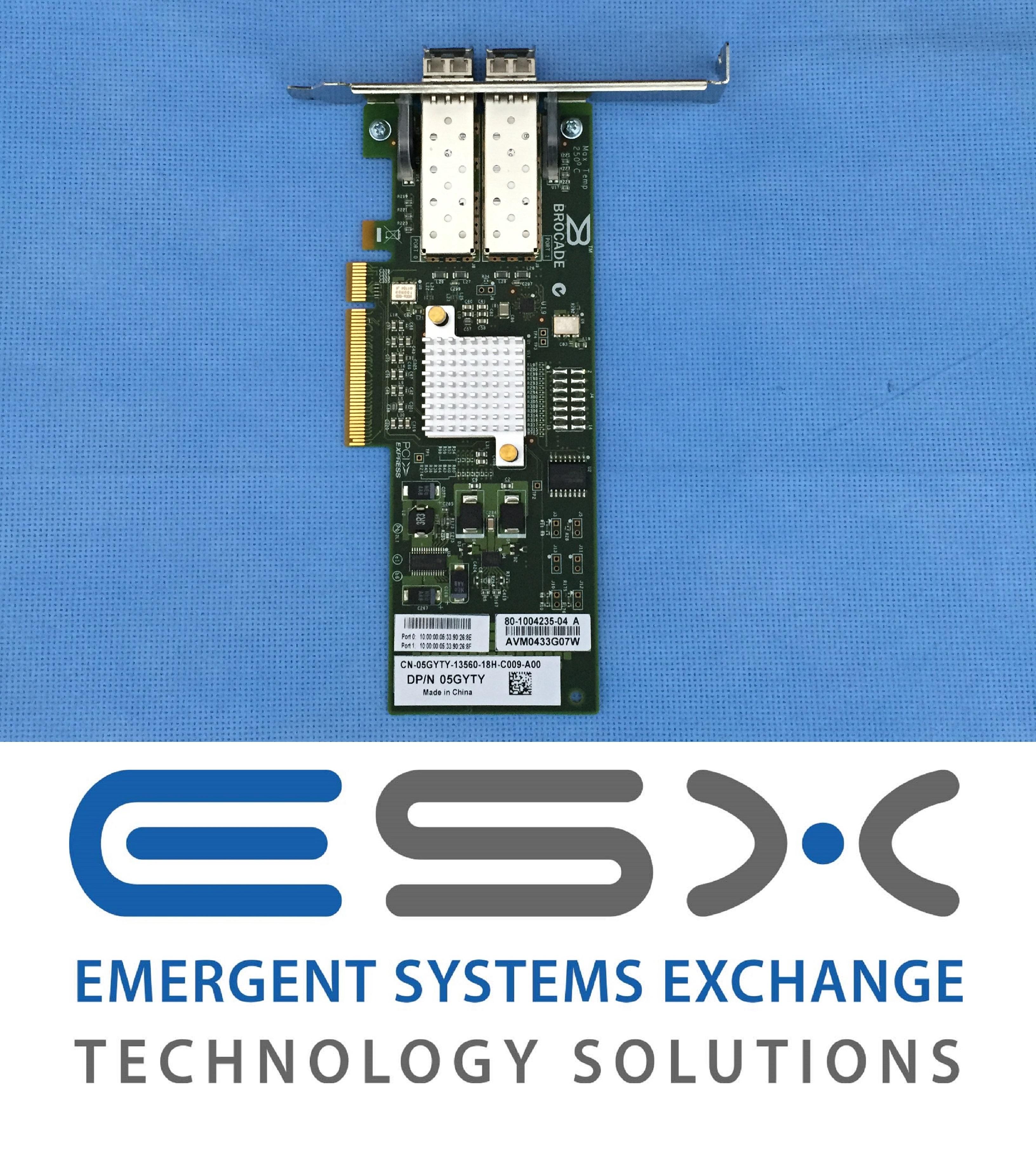 5GYTY Dell Brocade 825 Dual Port 8Gb//s FC Host Bust Adapter HBA