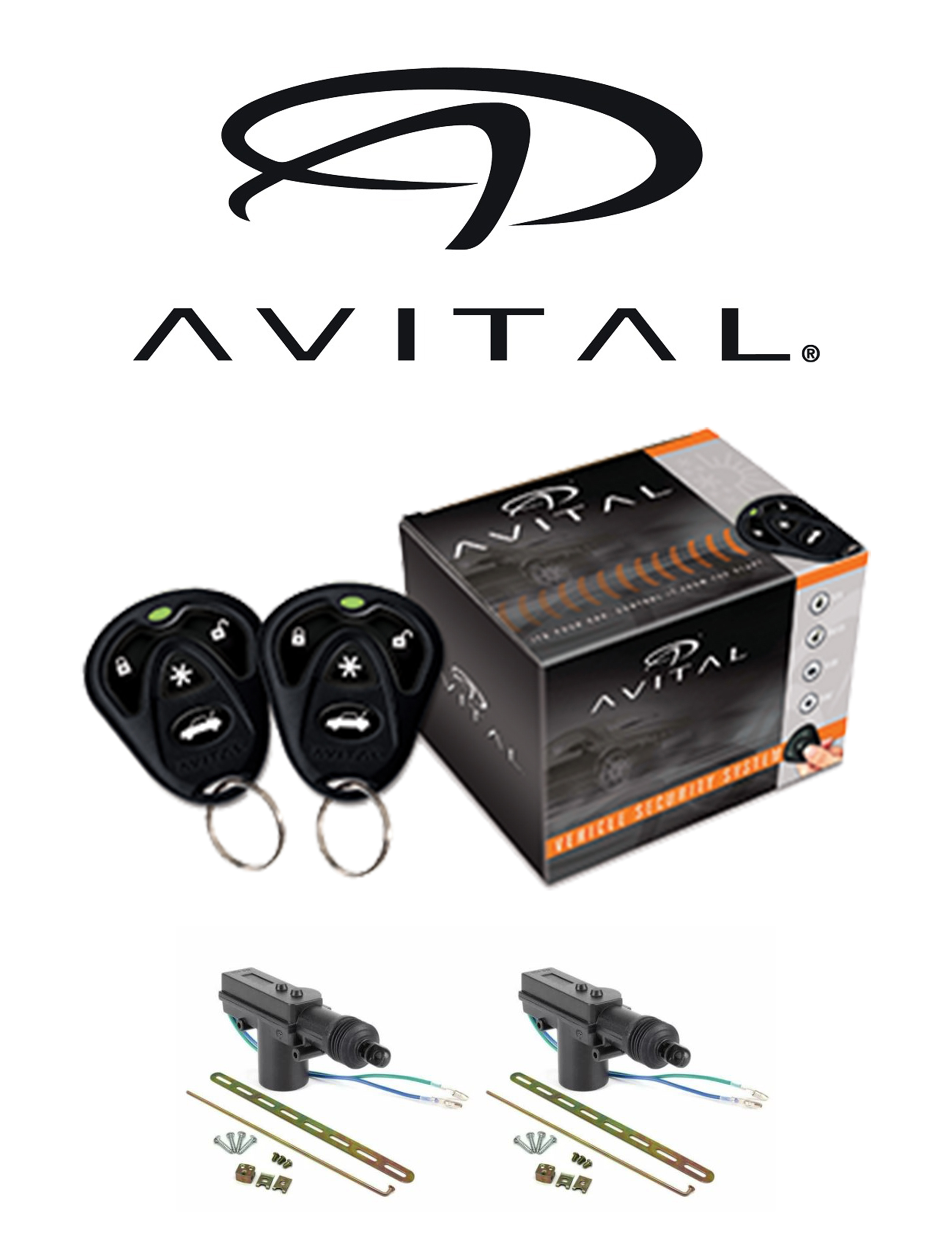 Avital 1 Way Security And Keyless Entry System   2 Door