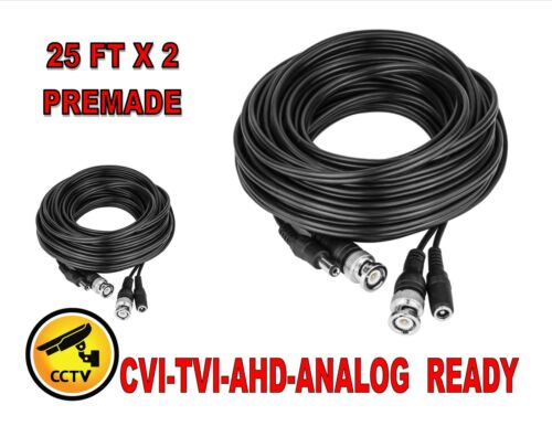 2PACK 150FT Heavy Duty Premade Siamese Cable for CCTV