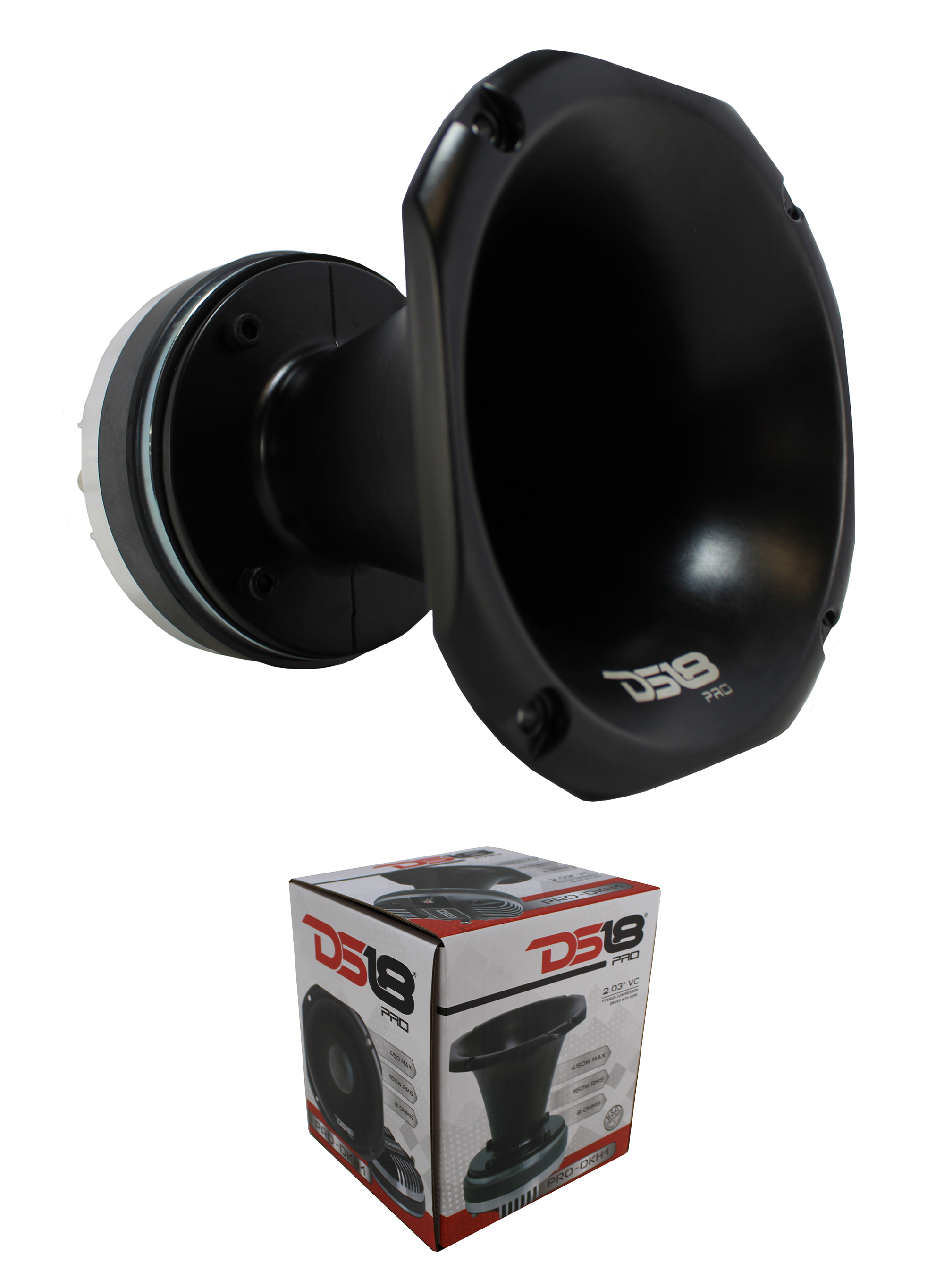 DS18 50W 4 Ohms Horn Compression Driver Neodymium PRO-DRNSC and PRO-H44 Combo