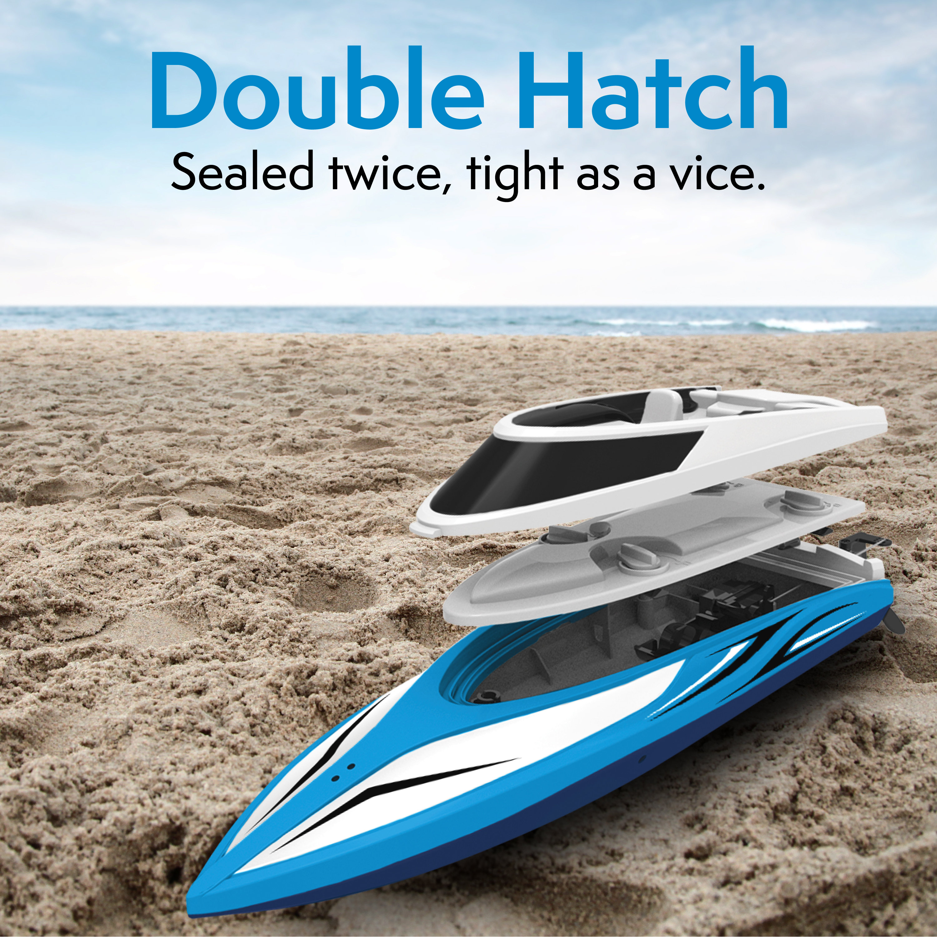 Details about Force1 High Speed Remote Control Boat for LAKES Pools CAPSIZE  RECOVERY Blue