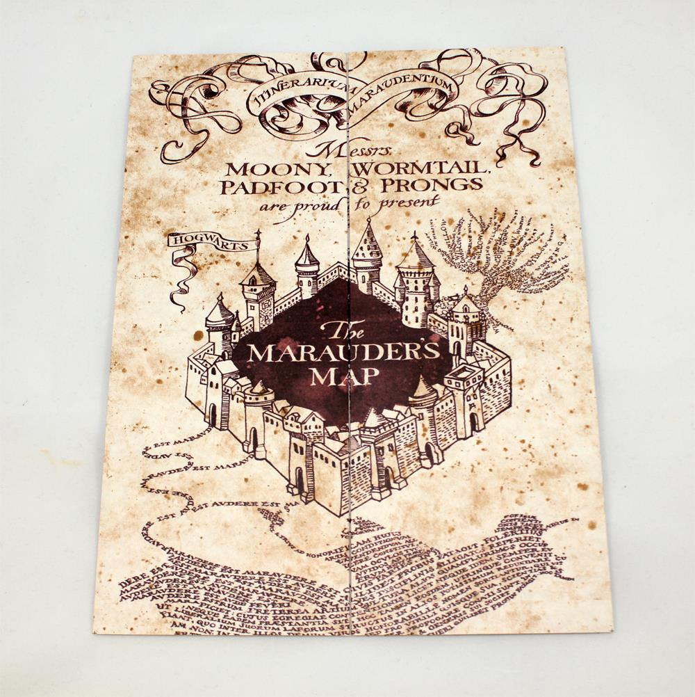 Harry Potter The Marauder/'s Map Hogwarts School of Witchcraft /& Wizardry