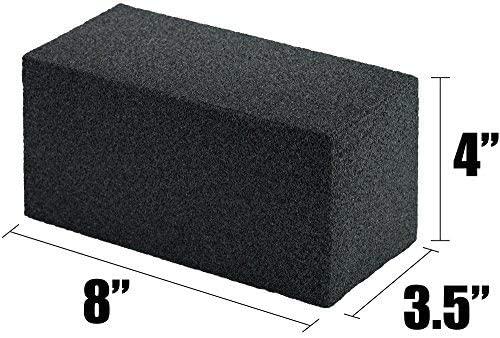 miniature 3 - 8x4 Heavy-Duty Grill Cleaning Brick Multipack, Non-Scratch Black Pumice Stone