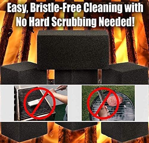 miniature 6 - 8x4 Heavy-Duty Grill Cleaning Brick Multipack, Non-Scratch Black Pumice Stone