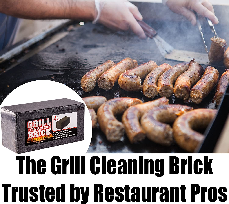 miniature 11 - 8x4 Heavy-Duty Grill Cleaning Brick Multipack, Non-Scratch Black Pumice Stone