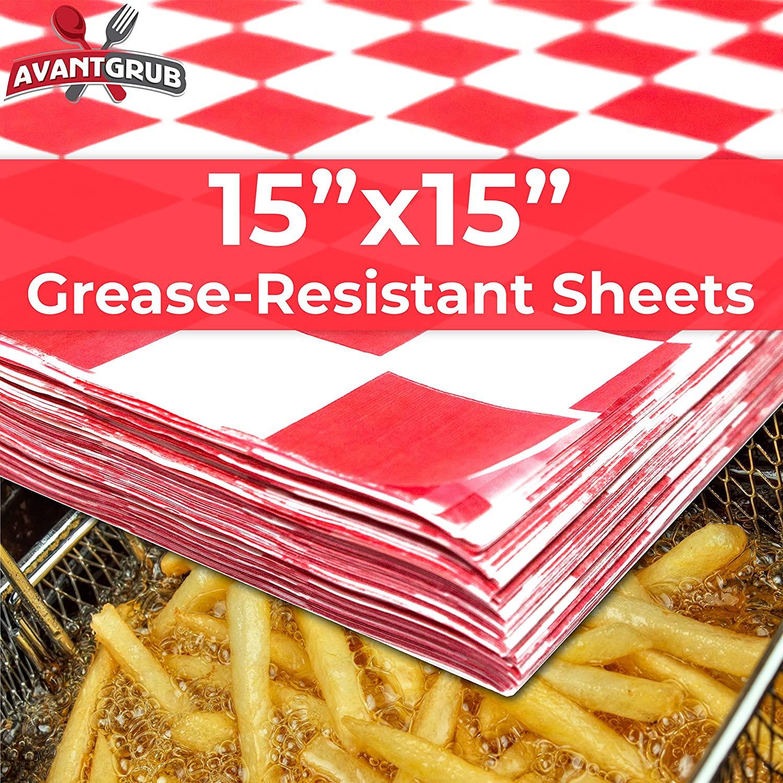 miniature 3 - [300 Pack] Retro Deli Sandwich Liner 15x15 Wax Patty Paper Sheets by Avant Grub