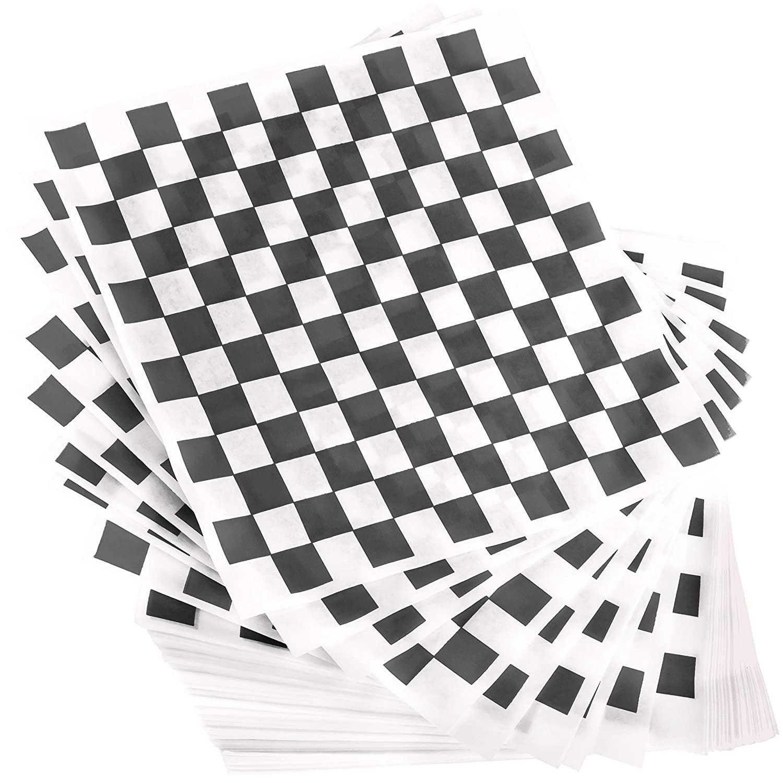 miniature 17 - [300 Pack] Retro Deli Sandwich Liner 15x15 Wax Patty Paper Sheets by Avant Grub