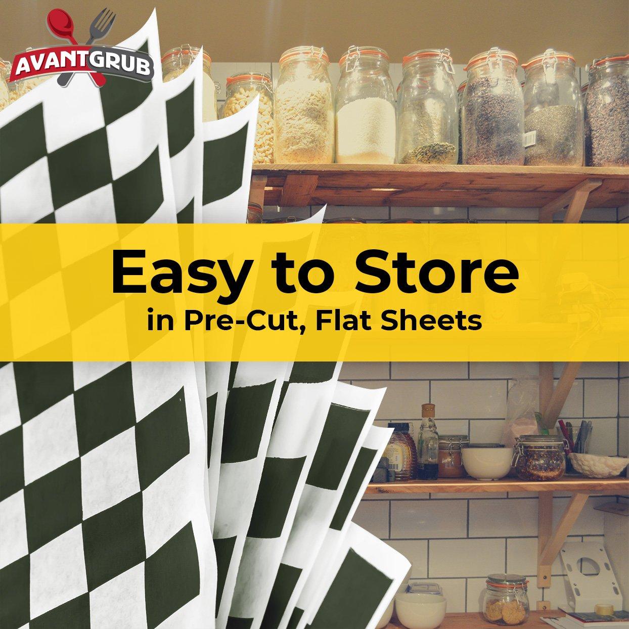 miniature 16 - [300 Pack] Retro Deli Sandwich Liner 15x15 Wax Patty Paper Sheets by Avant Grub
