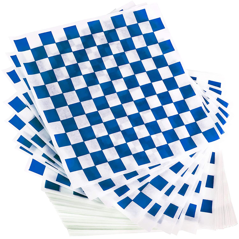miniature 25 - [300 Pack] Retro Deli Sandwich Liner 15x15 Wax Patty Paper Sheets by Avant Grub