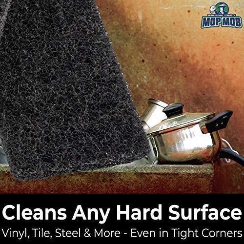 miniature 3 - XL Heavy Duty Multipurpose Black Scrub & Scouring Pads by Mop Mob