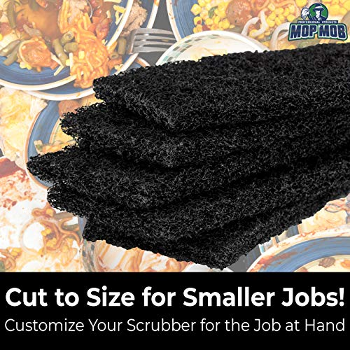 miniature 10 - XL Heavy Duty Multipurpose Black Scrub & Scouring Pads by Mop Mob