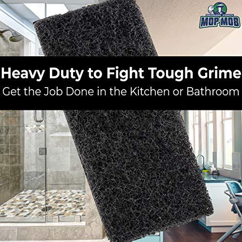 miniature 8 - XL Heavy Duty Multipurpose Black Scrub & Scouring Pads by Mop Mob