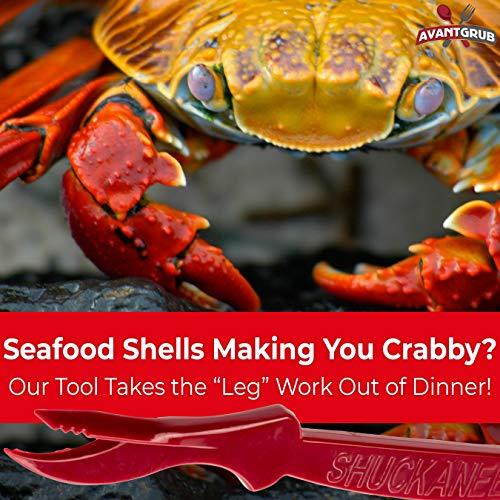 miniature 5 - 2-in-1 Shuckaneer Crab Sheller Seafood Tool Set for Crab & Crawfish Boil
