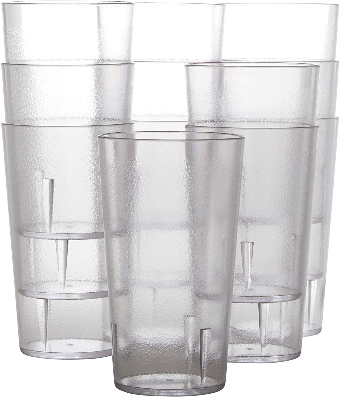 miniature 41 - 12 Oz Pebbled Plastic Tumblers Set, Shatterproof Drinking Glasses by Avant Grub