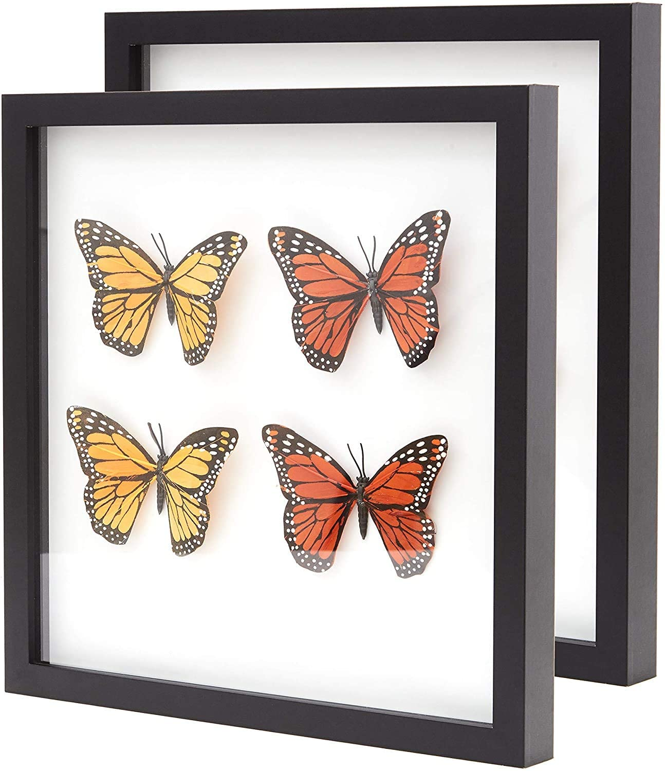 """miniature 17 - [8x8 12x12] Shadow Box Display Case 1"""" Depth Wood Picture Frame by Eucatus"""