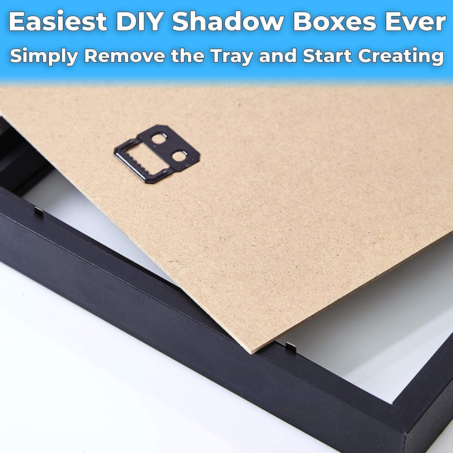 """miniature 15 - [8x8 12x12] Shadow Box Display Case 1"""" Depth Wood Picture Frame by Eucatus"""