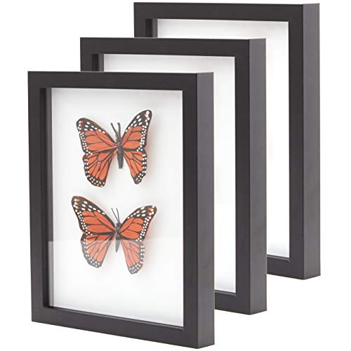 """miniature 7 - 8x10 Shadow Box Display Case 1.25"""" Depth Elegant Wood Picture Frame by Eucatus"""
