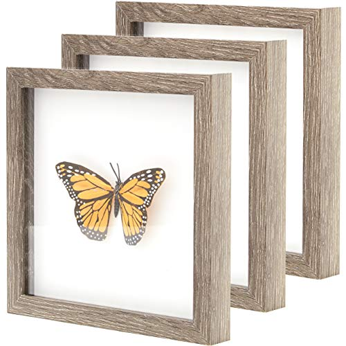 """miniature 9 - 8x10 Shadow Box Display Case 1.25"""" Depth Elegant Wood Picture Frame by Eucatus"""