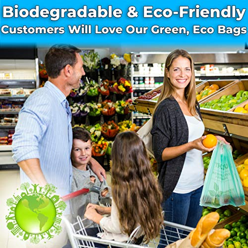 """miniature 14 - Bulk Pack 22"""" THANK YOU Plastic T-Shirt Grocery Bags Biodegradable/Recyclable"""