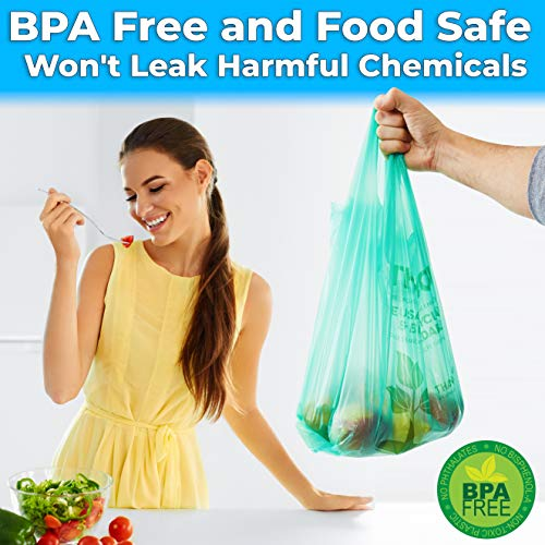 """miniature 20 - Bulk Pack 22"""" THANK YOU Plastic T-Shirt Grocery Bags Biodegradable/Recyclable"""
