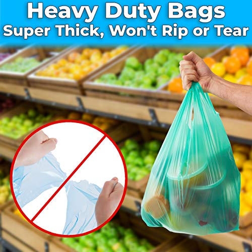 """miniature 18 - Bulk Pack 22"""" THANK YOU Plastic T-Shirt Grocery Bags Biodegradable/Recyclable"""