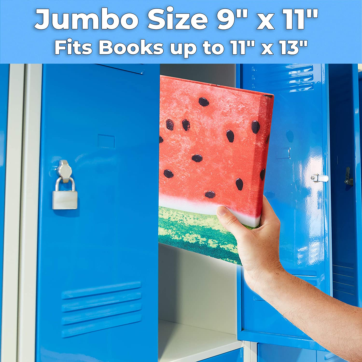 miniature 133 - [1-Pack] Jumbo 9x11 Hardcover Textbook Stretchable Fabric Book Covers