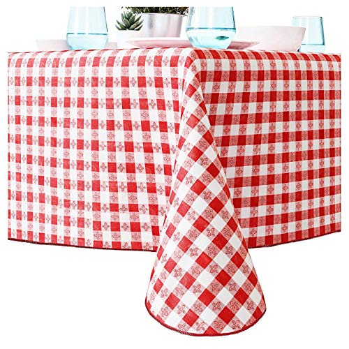 miniature 20 - Red And White Checkered Tablecloth for Picnic Table Cover, Waterproof Vinyl